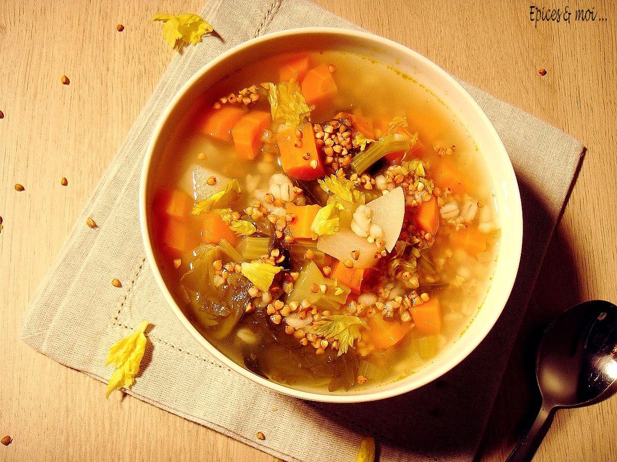 Bouillon de légumes au kasha2