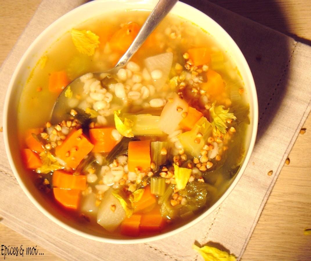 Bouillon de légumes au kasha4