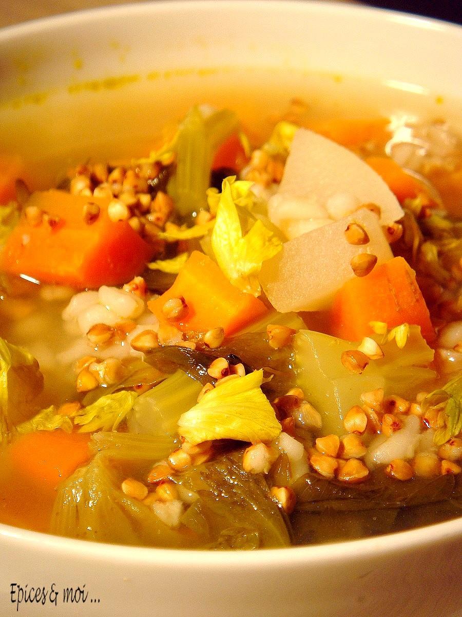 Bouillon de légumes au kasha5