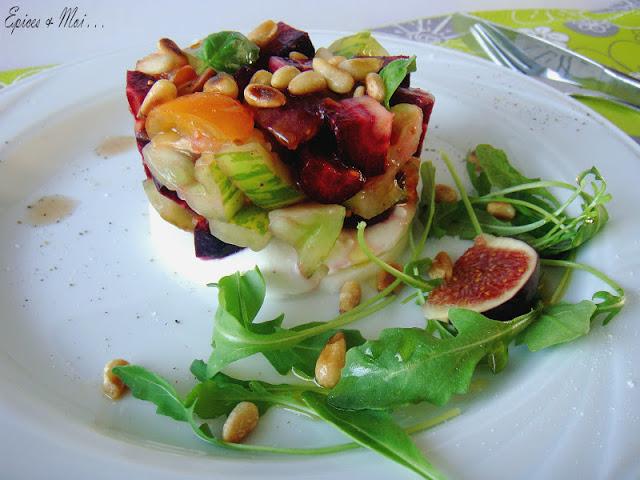 Tartare de zebra green carottes violettes figues sur mozzarella pices moi - Quand cueillir les figues ...