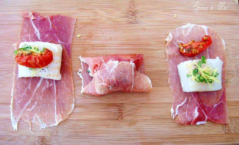 Bouch es de poisson prosciutto et fontina pesto de - Comment couper le basilic ...