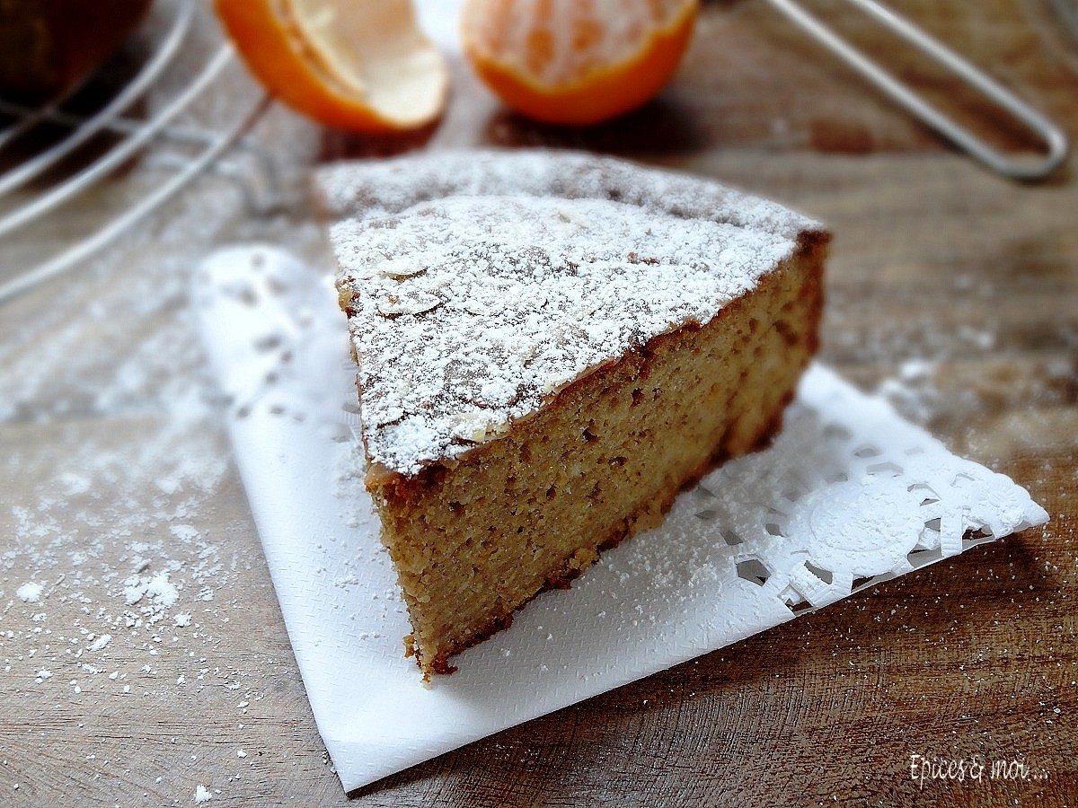 Gâteau à la farine de châtaigne et clémentines