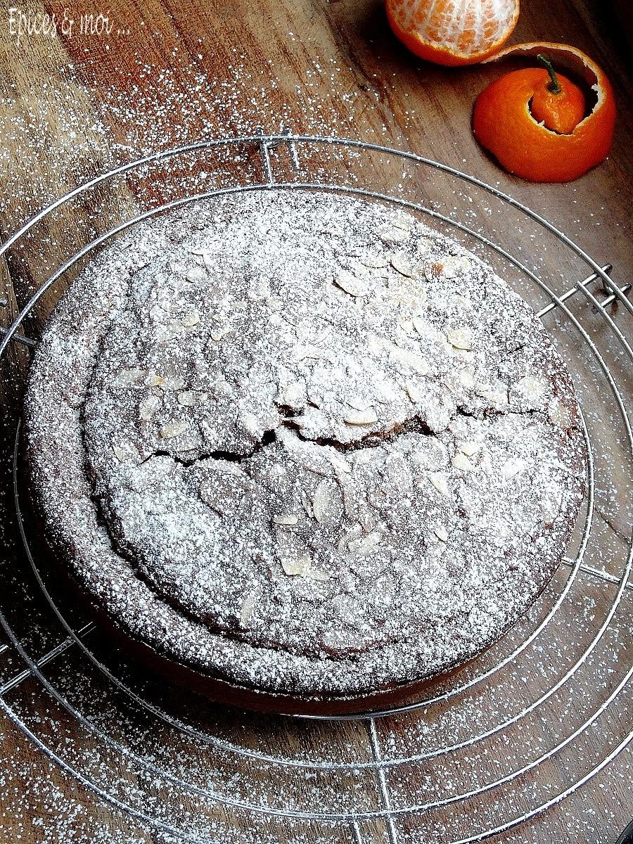 Gâteau à la farine de châtaigne et clémentines1