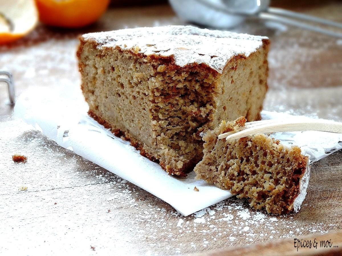 Gâteau à la farine de châtaigne et clémentines2