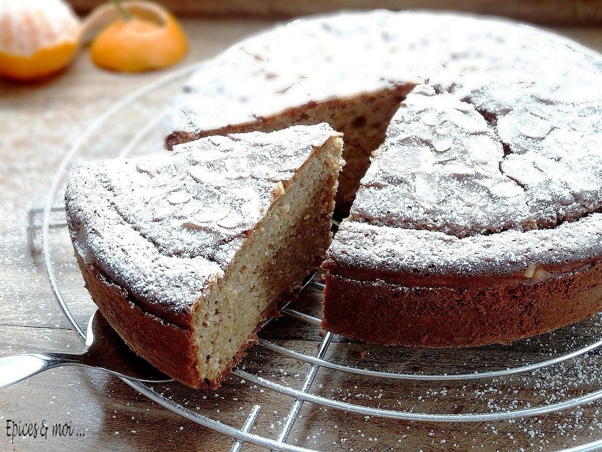 Gâteau à la farine de châtaigne et clémentines3