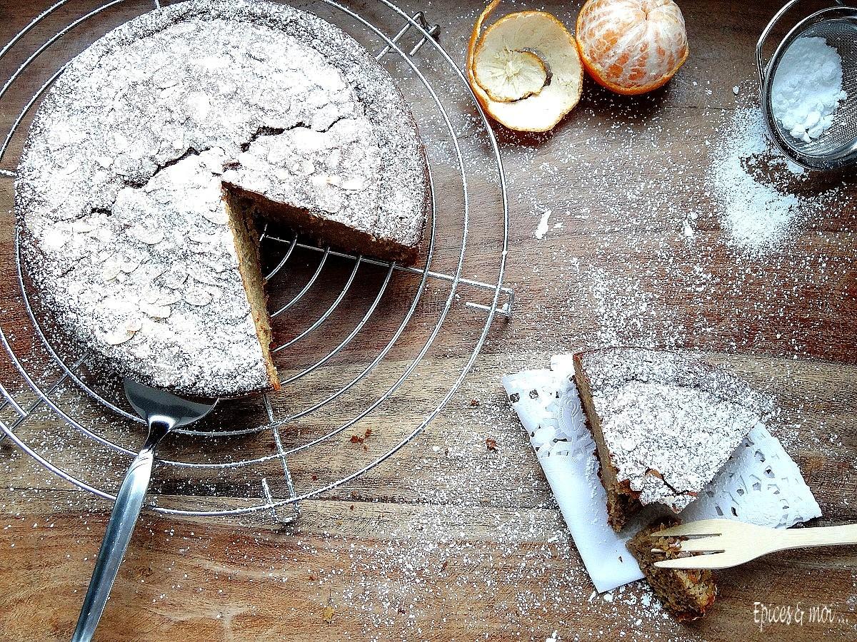 Gâteau à la farine de châtaigne et clémentines4