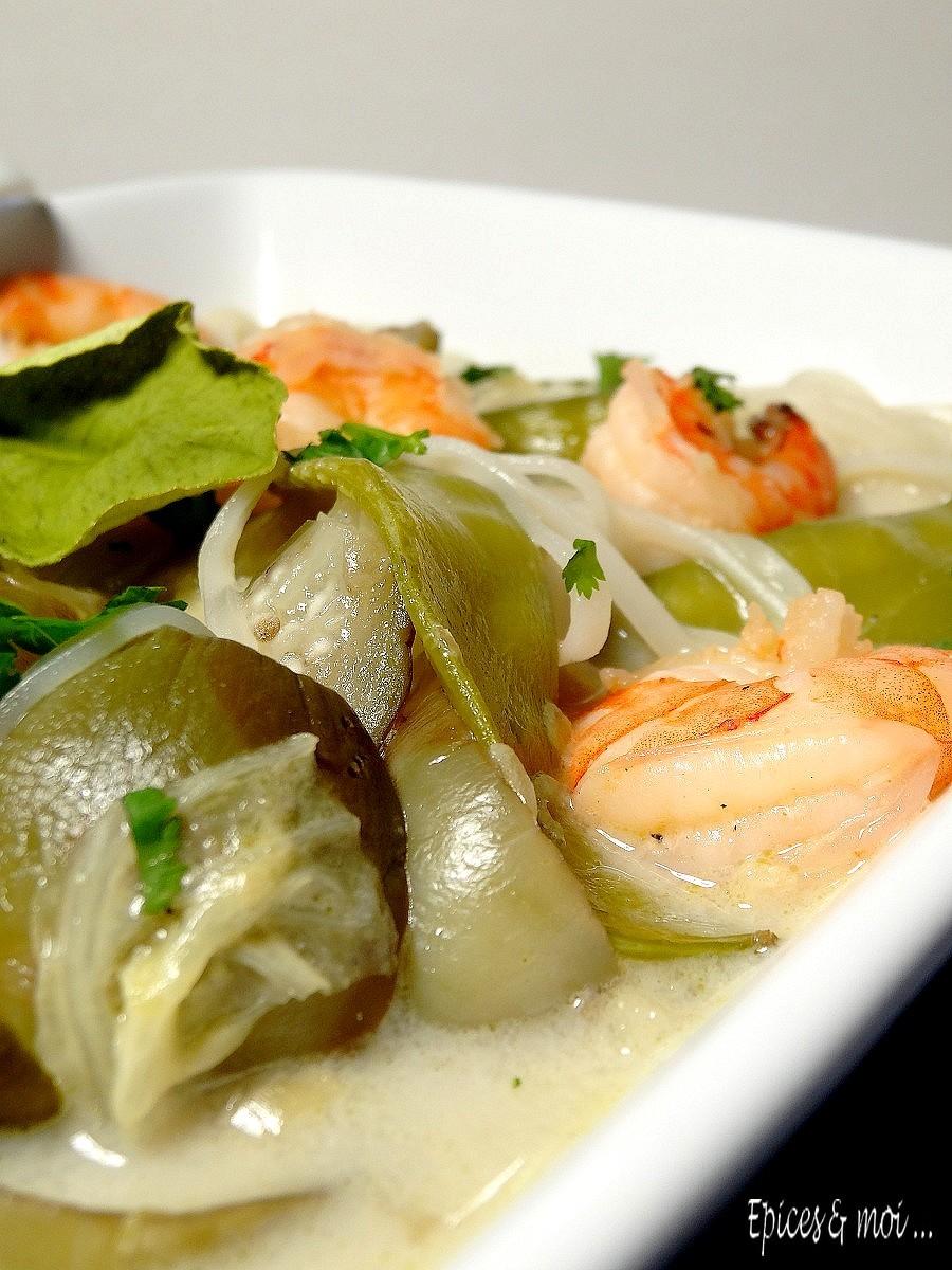Bouillon thaï crevettes & combava3