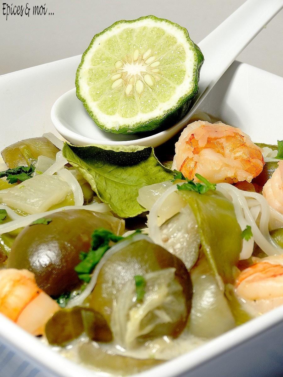 Bouillon thaï crevettes & combava4