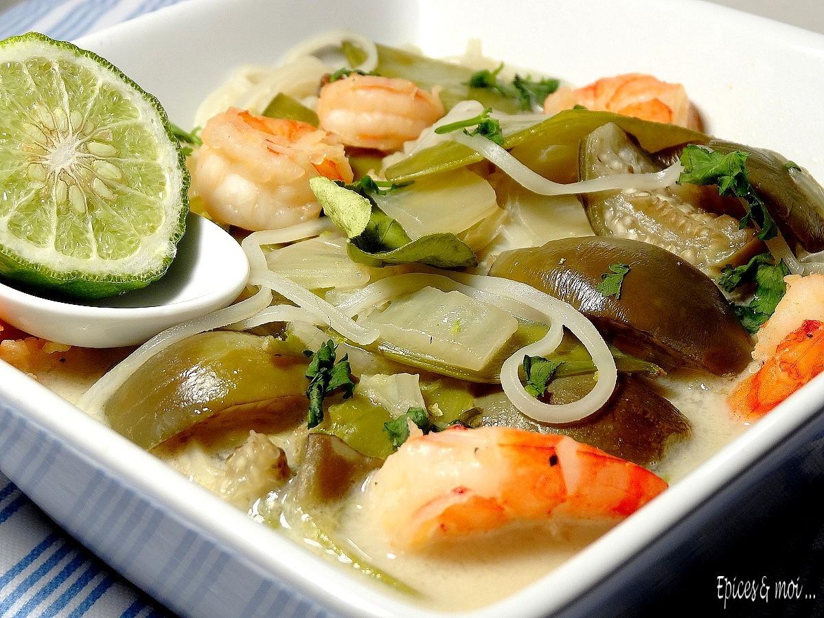 Bouillon thaï crevettes & combava5