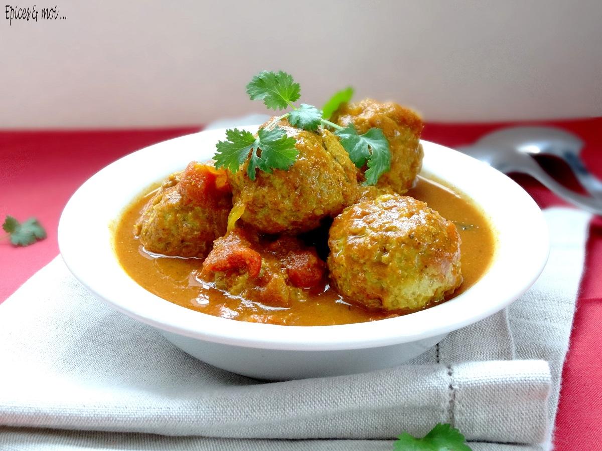 Koftas de poulet à l'indienne 1