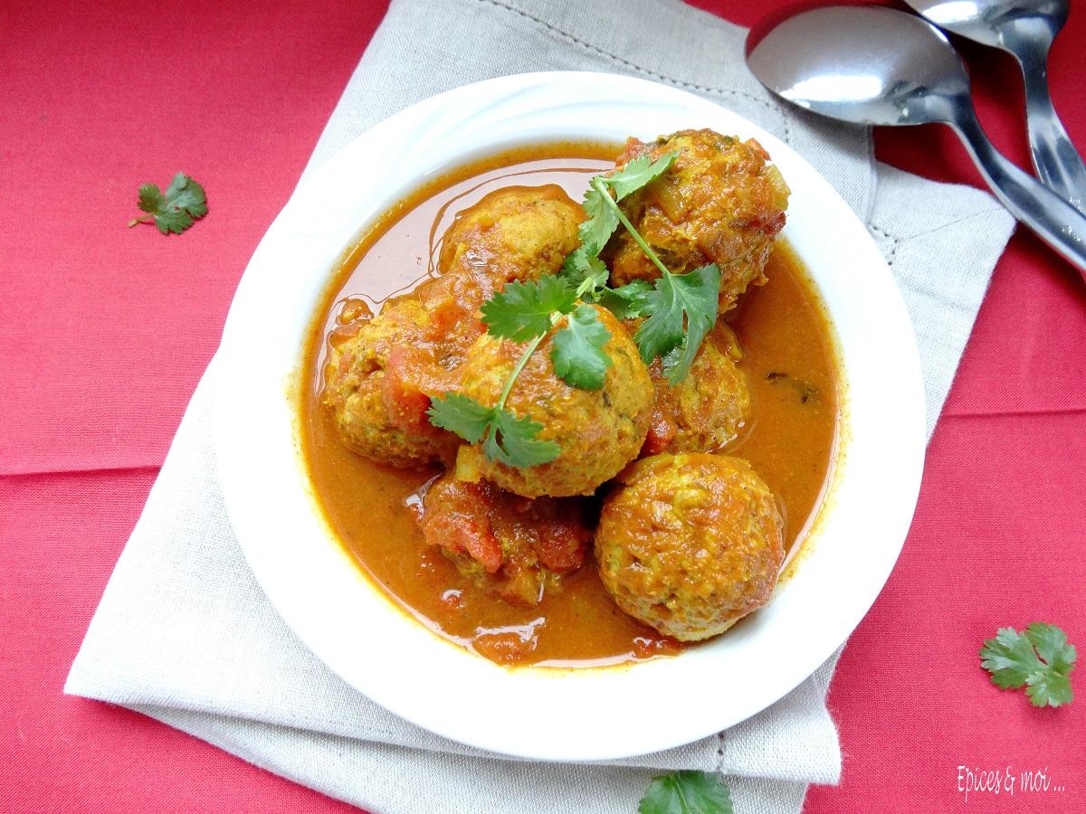 Koftas de poulet à l'indienne 2