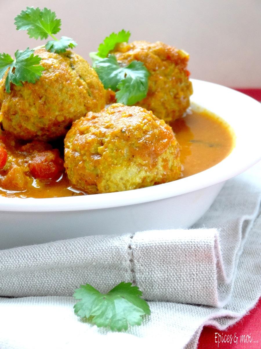 Koftas de poulet à l'indienne 3