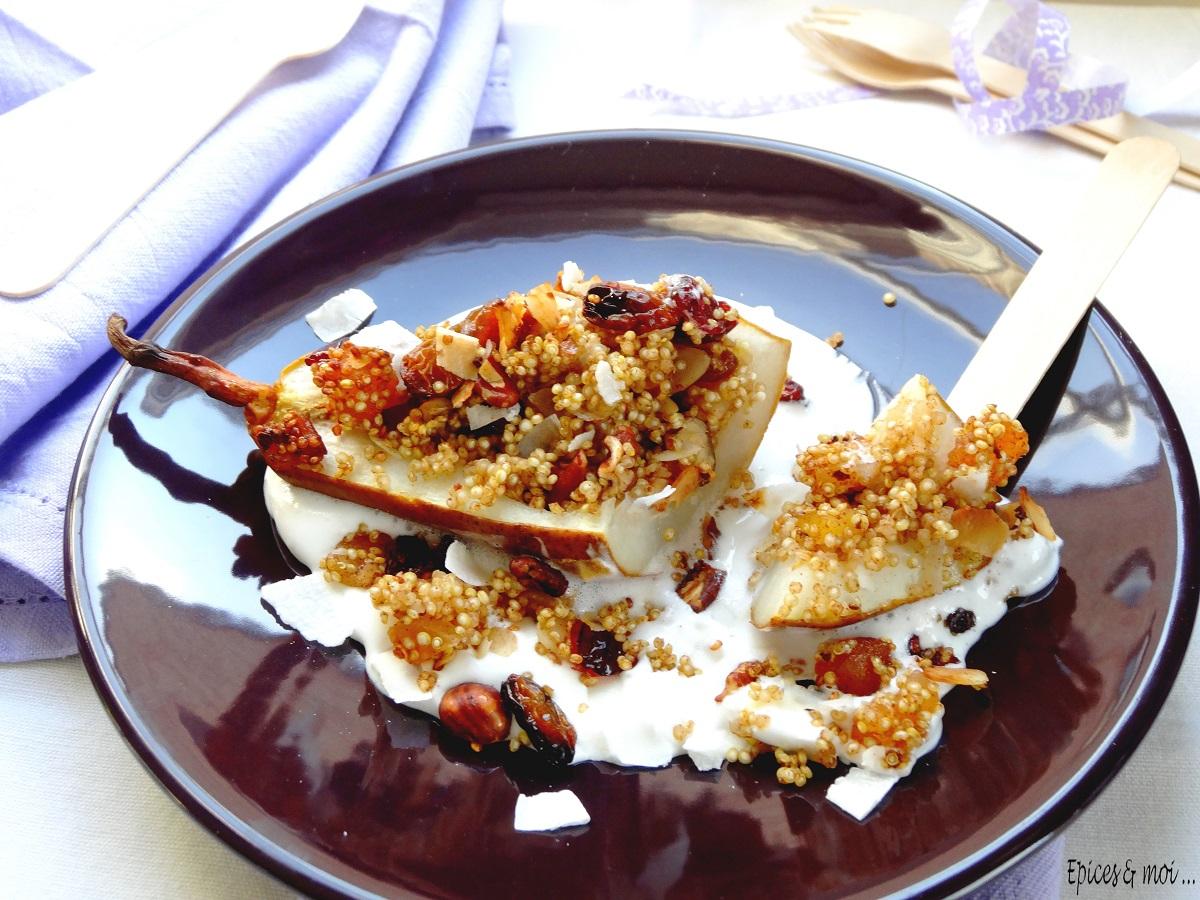 Poires rôties au quinoa 3