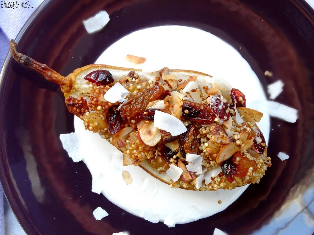 Poires rôties au quinoa 5