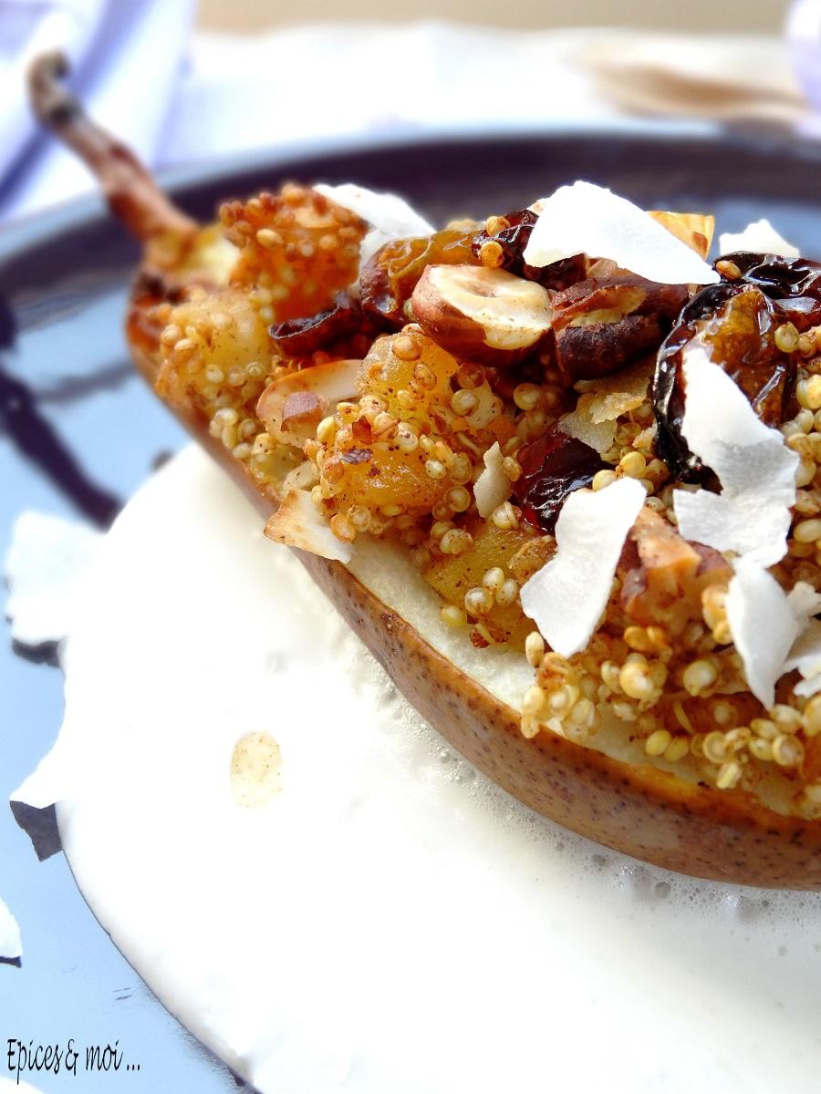 Poires rôties au quinoa 6