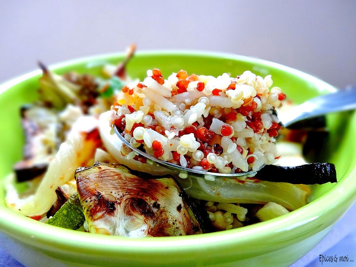 Quinori aux légumes rôtis 1