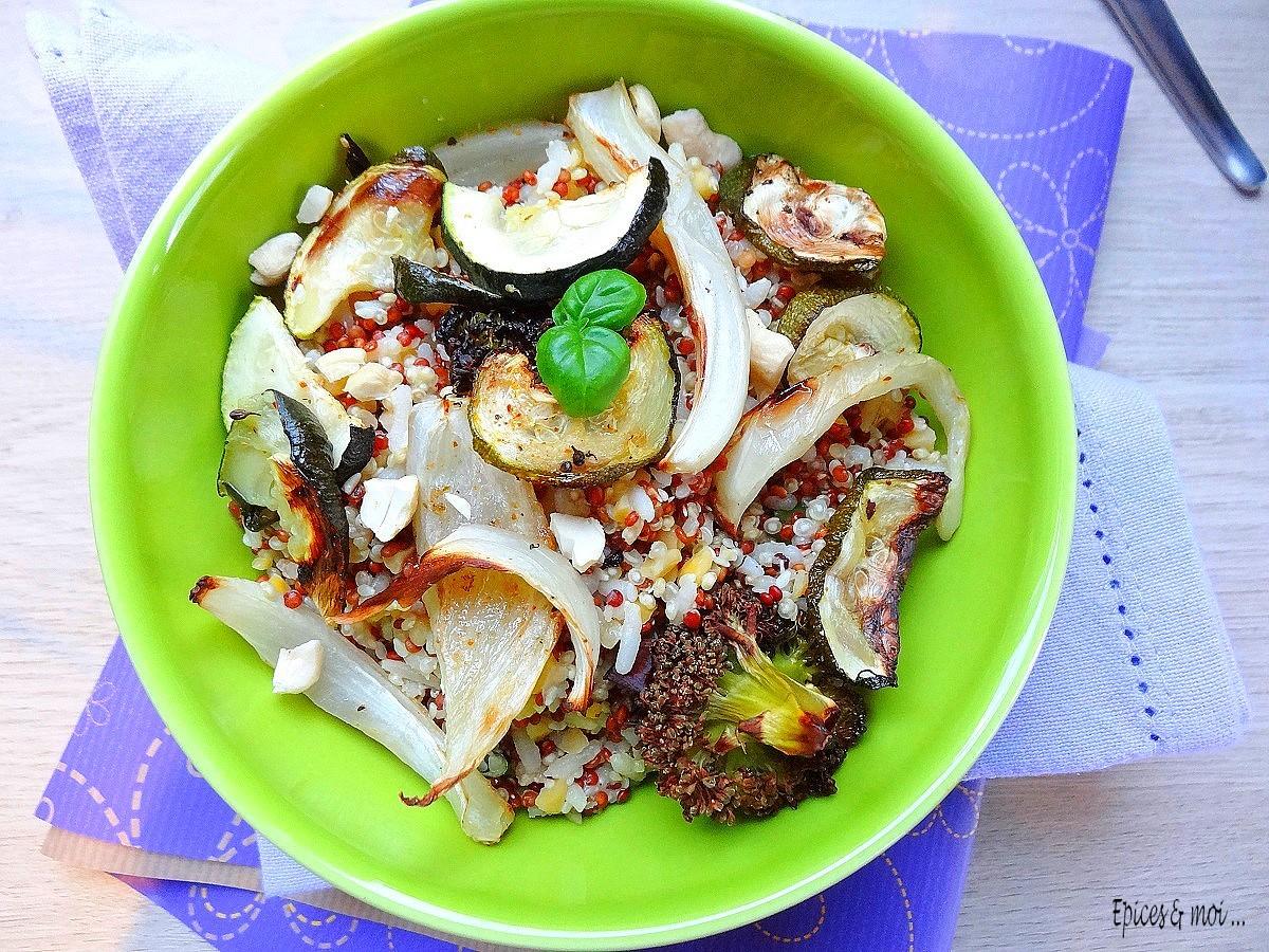 Quinori aux légumes rôtis 2