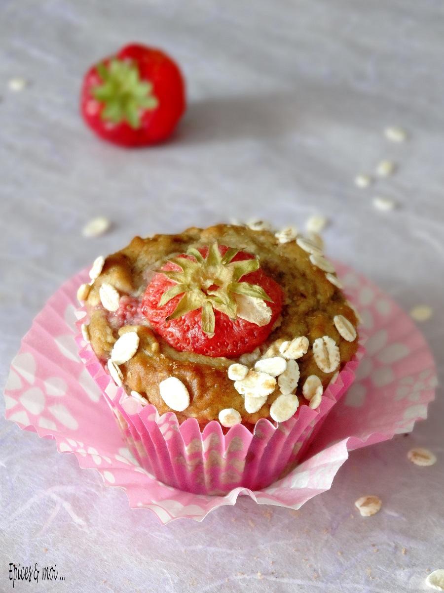 Muffins fraises 3