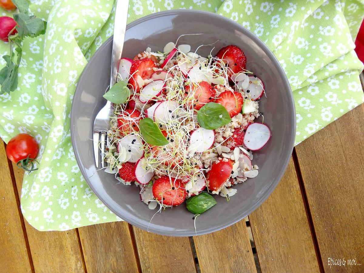 Salade boulgour quinoa aux fraises 1
