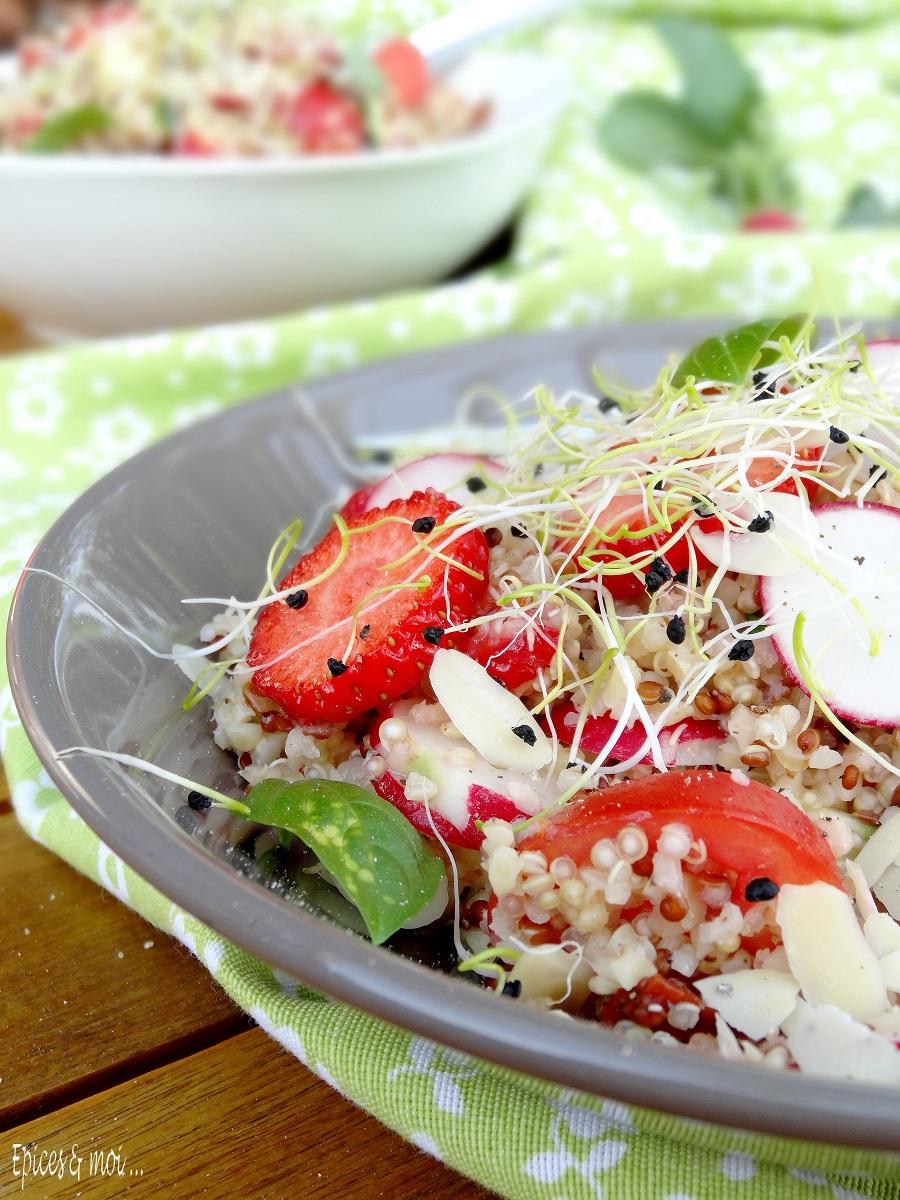 Salade boulgour quinoa aux fraises 3