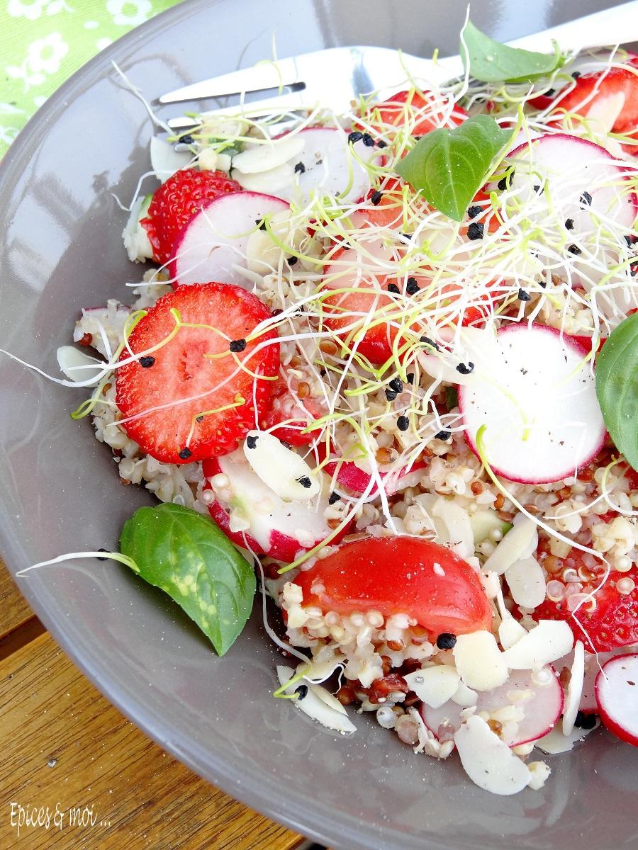 Salade boulgour quinoa aux fraises 4