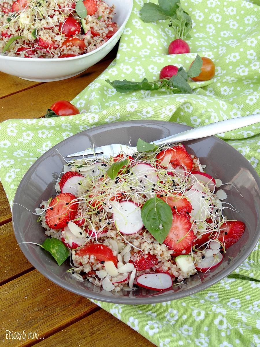 Salade boulgour quinoa aux fraises 5
