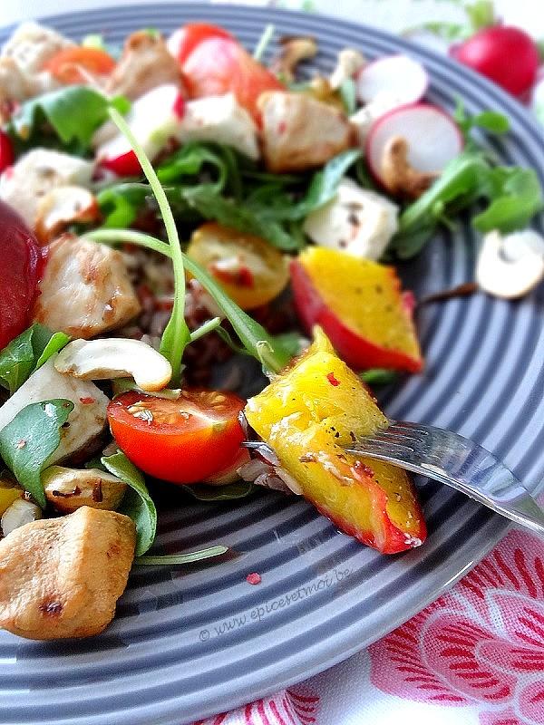 Epices&moi-Salade riz pêches 1