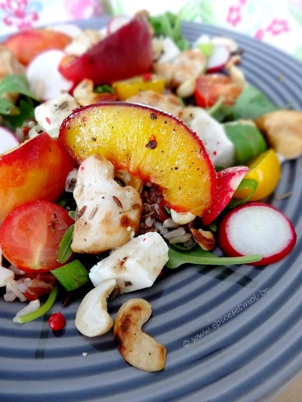 Epices&moi-Salade riz pêches 3