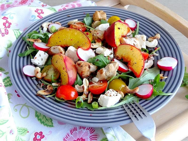 Epices&moi-Salade riz pêches 4