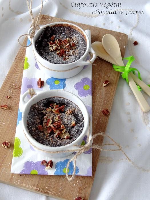 Epices & moi - Clafoutis poires chocolat 3