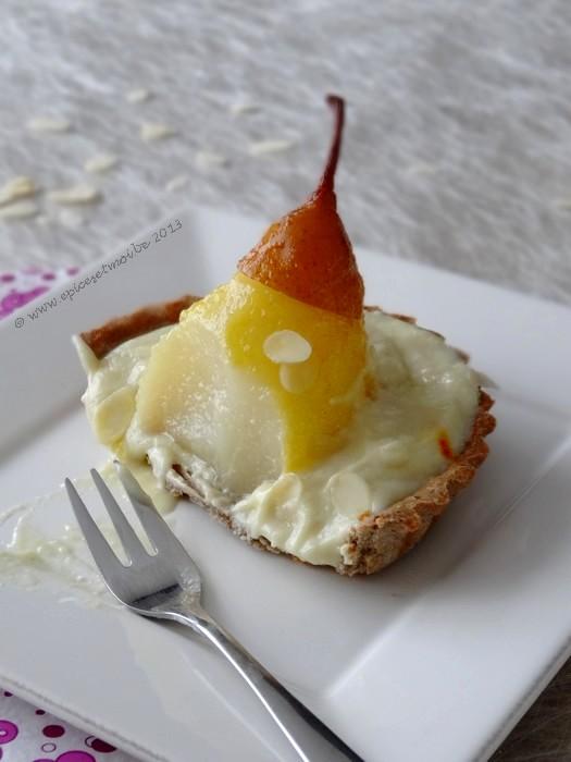 Epices & moi Tartelette poires safran 2