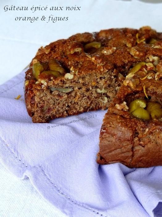 Epices & moi Gâteau noix figues 6