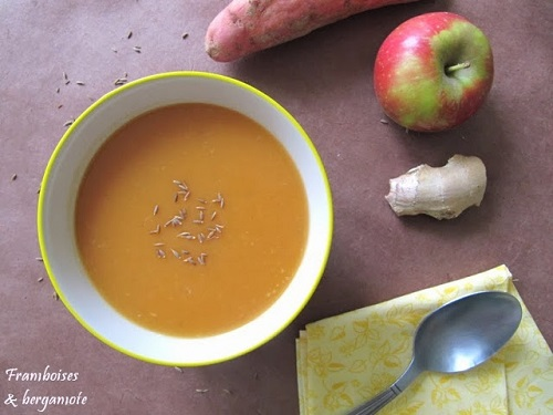 Soupe patate douce et pomme (1)