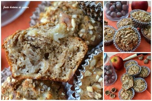 muffins châtaigne pomme