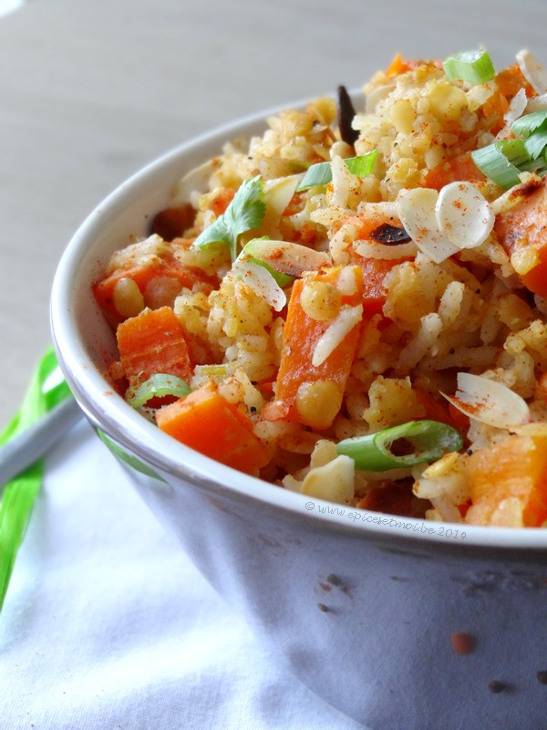 Epices & moi Salade riz lentilles 2