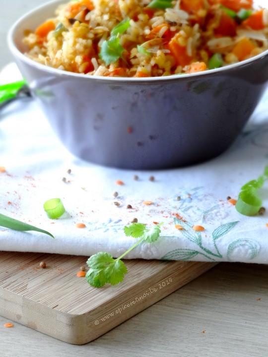 Epices & moi Salade riz lentilles 3