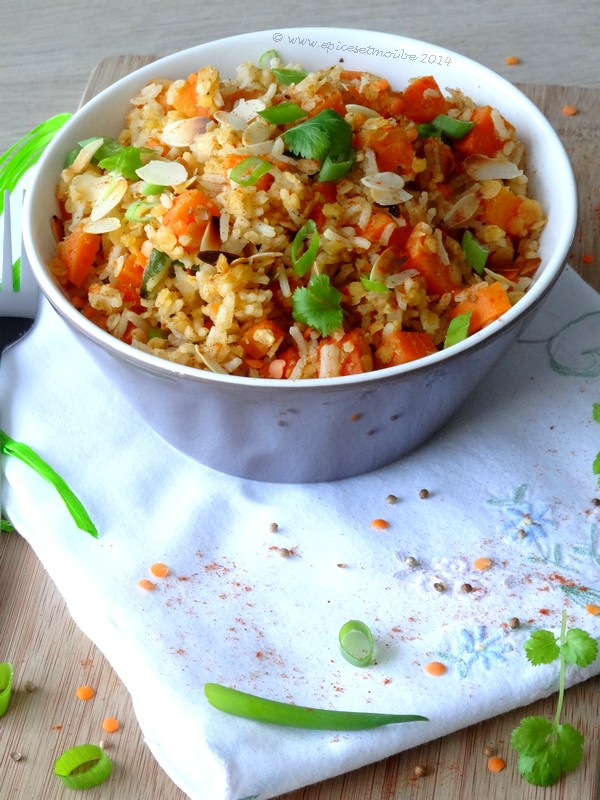 Epices & moi Salade riz lentilles 4