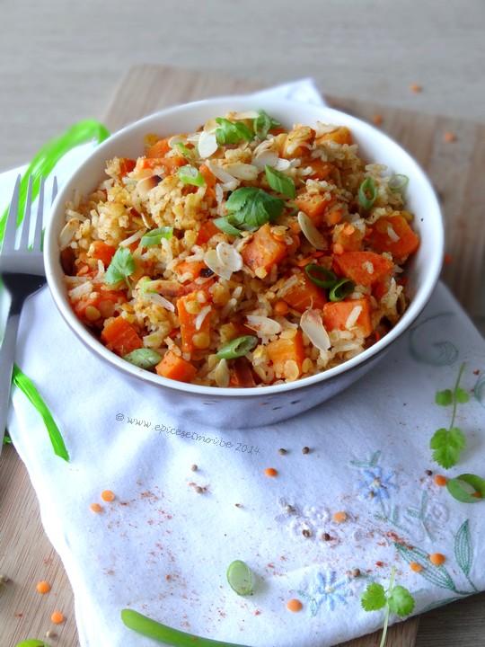 Epices & moi Salade riz lentilles 6