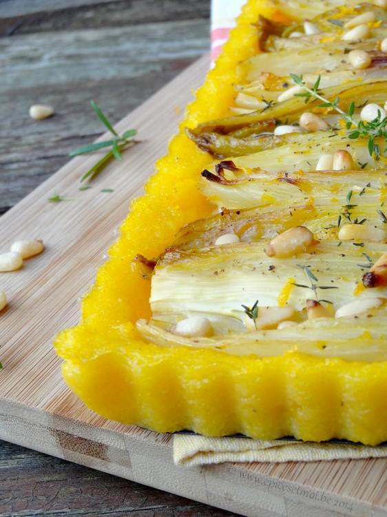Epices & moi Tarte endives polenta 4