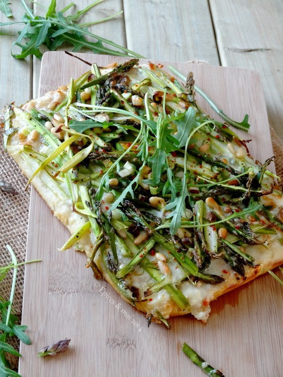 Epices & moi Pizza asperges 4