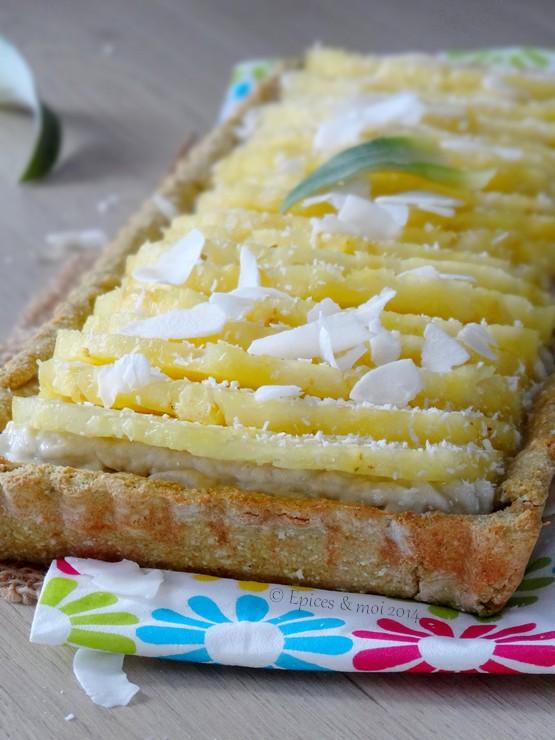 Epices & moi Tarte coco ananas 7