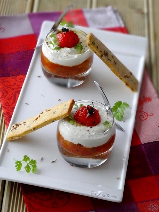 Epices & moi Verrine chutney tomates feta 1