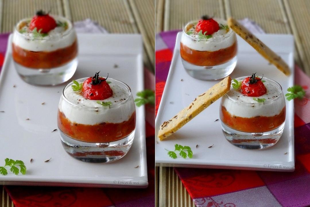 Epices & moi Verrine chutney tomates feta 2