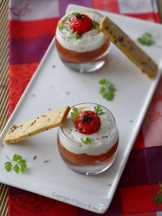 Epices & moi Verrine chutney tomates feta 3