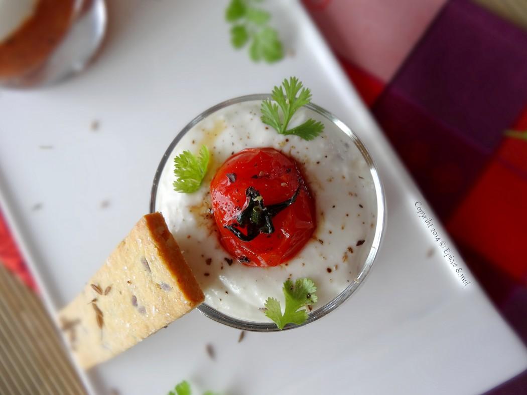 Epices & moi Verrine chutney tomates feta 8