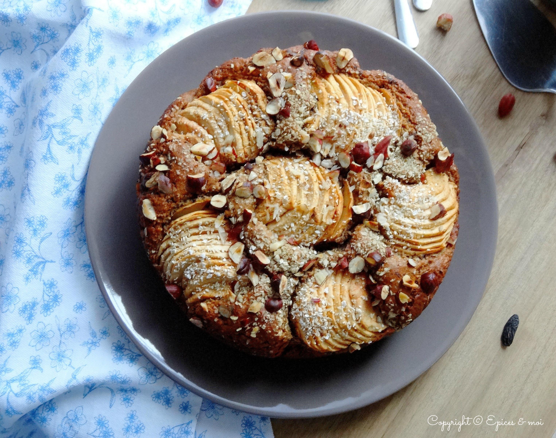 Epices & moi Gâteau pommes noisettes 1