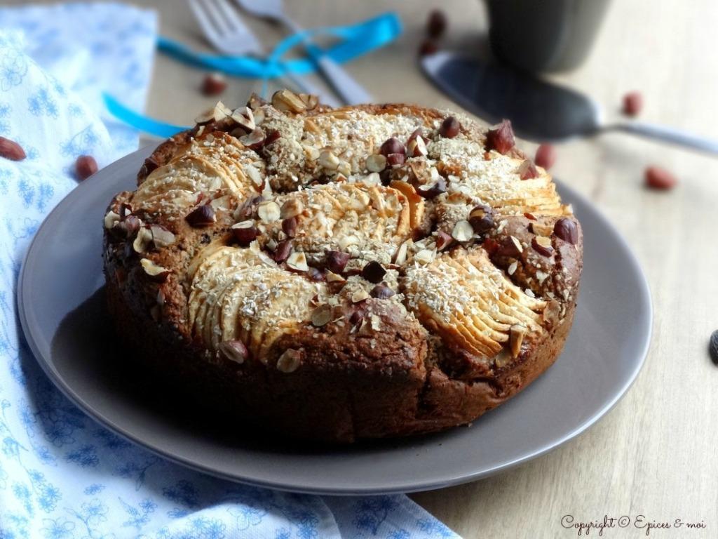 Epices & moi Gâteau pommes noisettes 7
