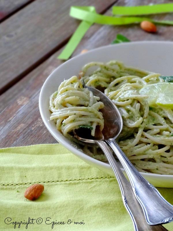Epices & moi Spaghetti avocat citron 4