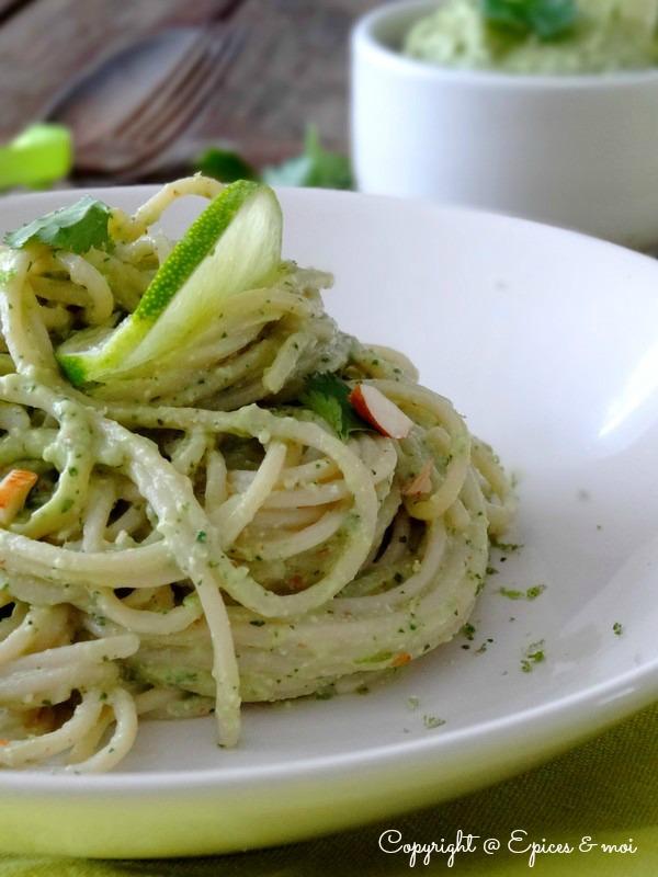 Epices & moi Spaghetti avocat citron 5