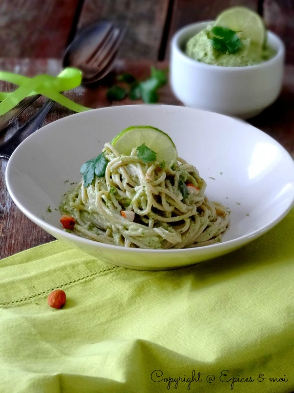 Epices & moi Spaghetti avocat citron 8